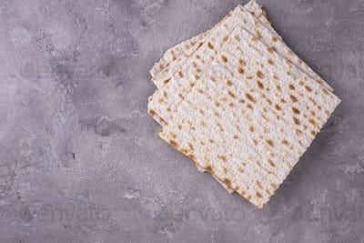 Traditional ritual Jewish bread matzah