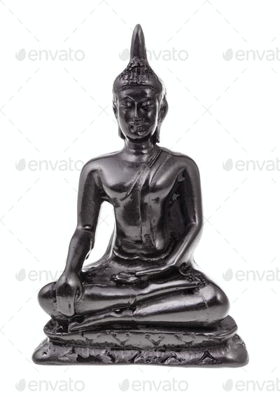statuette of Earth Touching Buddha isolated