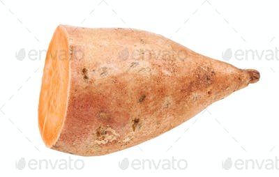 cutted tuber of sweet potato ( batata) isolated