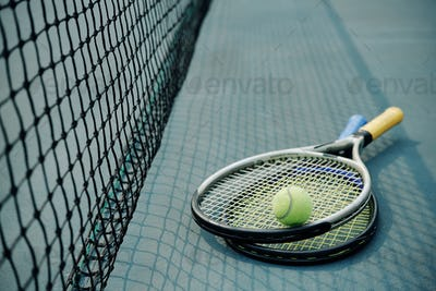 Rackets and ball