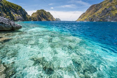 El Nido, Palawan, Philippines. Tapiutan strait on island tour C. Located on Matinloc island. Bacuit