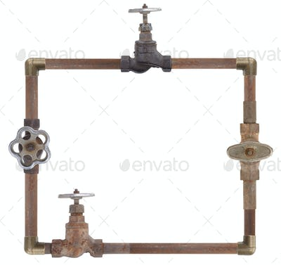 Frame from water pipes