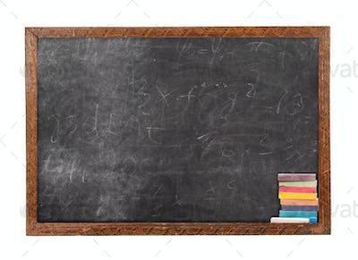 Blackboard and chalk