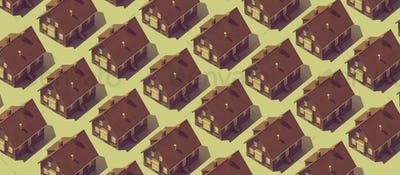 Real estate background with repetition of model houses