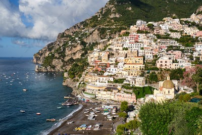 The famous tourist resort Positano