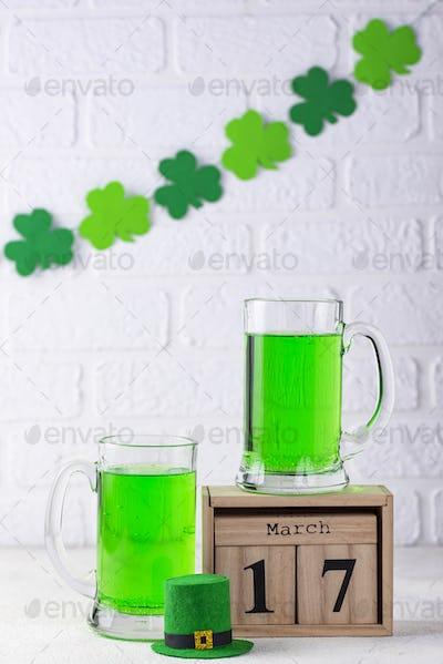 St. Patricks day green beer