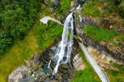 Steinsdalsfossen is a waterfall in Norway.
