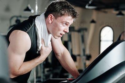 Sweaty sportsman on sportsman