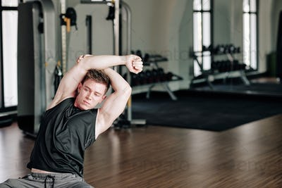 Stretching fit man