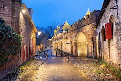 Amersfoort, Netherlands at the Koppelport at dawn.