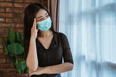 woman wearing masks for protection against virus infection