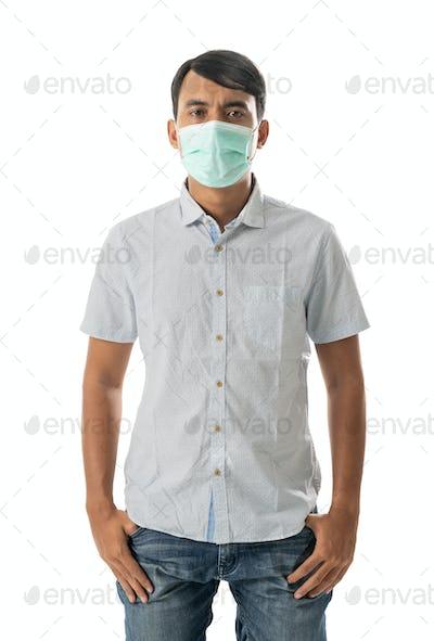 man wearing face masks
