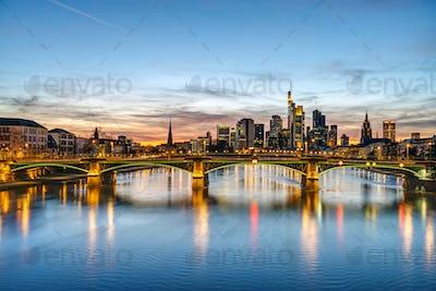 The skyline of Frankfurt
