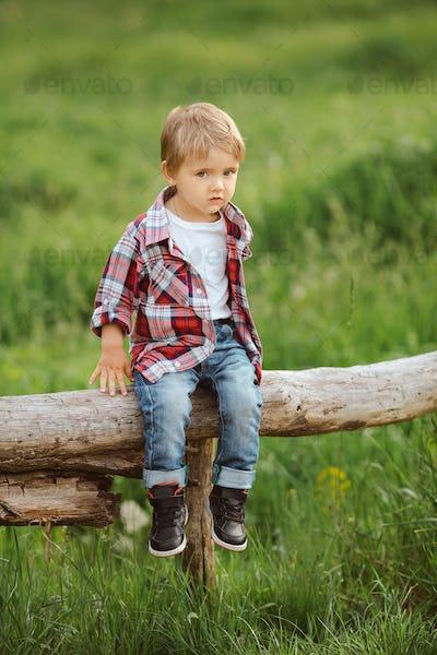 Happy kid outdoor