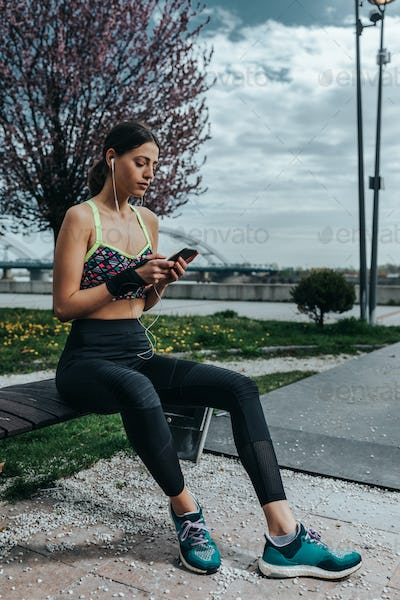 Using a new fitness app