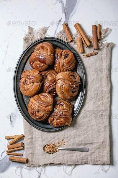 Swedish cinnamon sweet buns