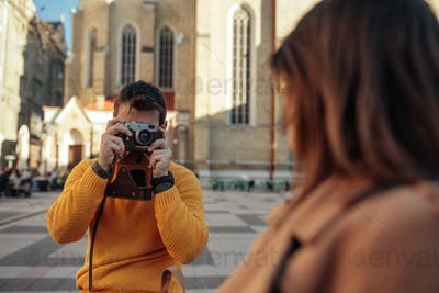 Capturing love in a foreign city