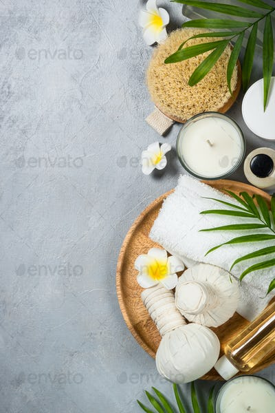 Spa product Flat lay background