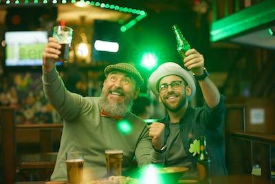 People having fun in the bar