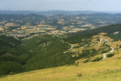 Landscape near Monte Cucco, Marches and Umbria, Italy