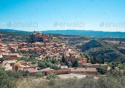 Alquezar village in Huesca, Spain