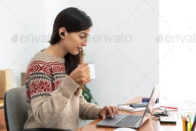 Maria Working Home