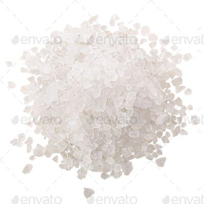 Pile of sea salt, coarse, paths, top