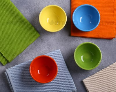 Colored Bowls Utensils