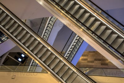 Escalators from above