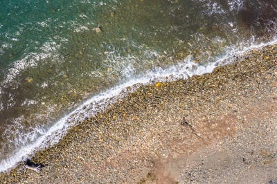 Top down view of sea