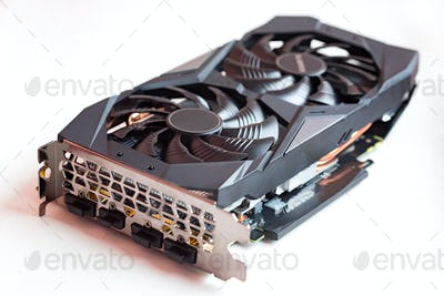 Graphic card for pc isolated on white