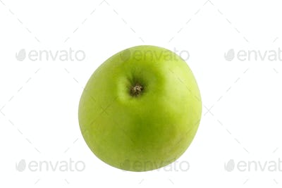 Whole green apple