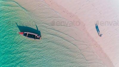 fishermen's dhow in Mafia island
