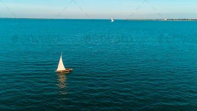 fishing in wooden dhow, Zanzibar