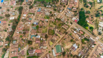 aerial view of the morogoro town