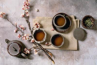 Tea drinking wabi sabi style