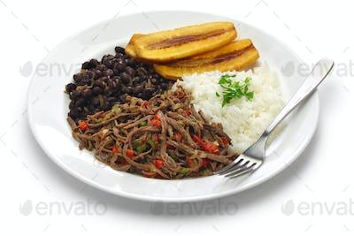 traditional venezuelan dish called Pabellon Criollo