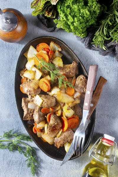 liver with vegetables