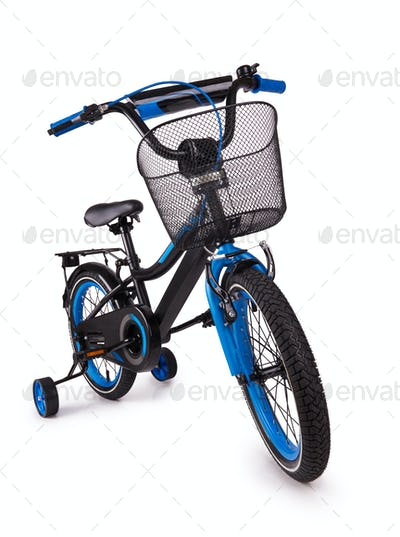 black children's bicycle