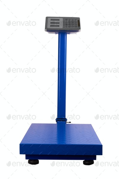 trade scales isolated on a white background
