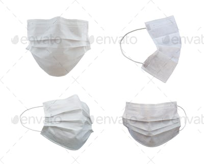 Collection of Medical Face Masks At Different Angles