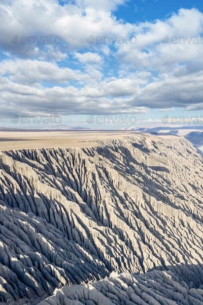 gully landscape on canyon