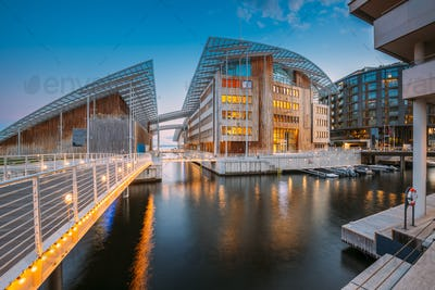 Oslo, Norway. Museum of Modern Art In Residential Multi-storey Houses In Aker Brygge District In