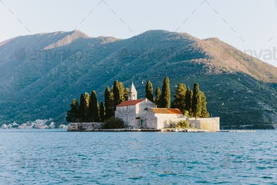 Beautiful Island of Saint George in Perast Montenegro