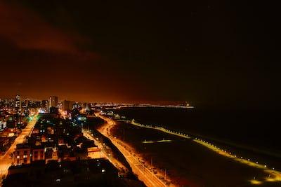 The Pacific Ocean coast on Lima