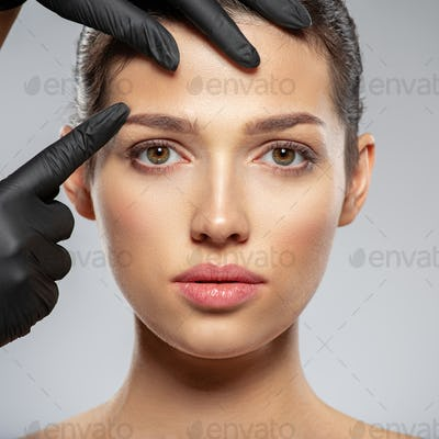 Face skin check before plastic surgery.
