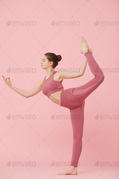 Stretching exercise during yoga