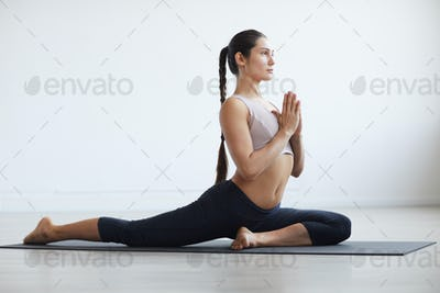 Woman exercising in the room