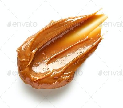 soft caramel on white background