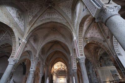 Church of Santa Maria delle Grazie in Milan, Italy. Interior